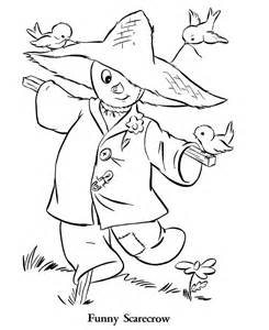 scarecrow coloring page scarecrow coloring