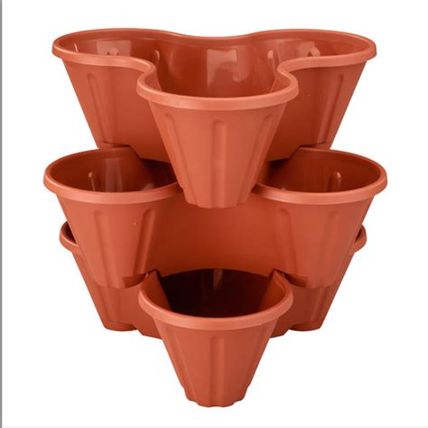 Stackable Planters by Stackable Planters Set Of 3 Stacking Planters Walter
