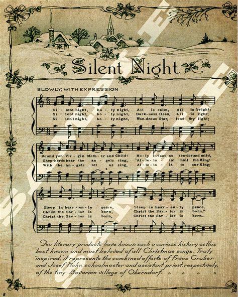 printable christmas music sheets christmas holiday religious silent night sheet holiday music