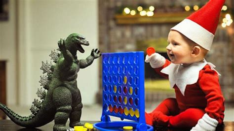 dad turns baby into elf on the shelf usa today dad turns his grossly adorable baby into a grossly