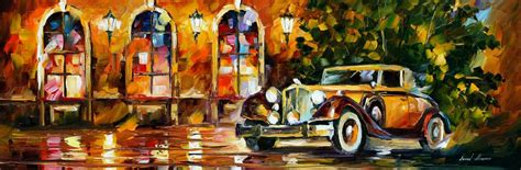 painting for cars 1934 packard palette knife painting on canvas by