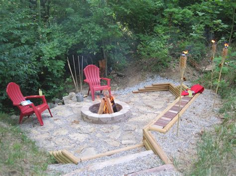Creek Rock Patio creating a creek patio pit hometalk