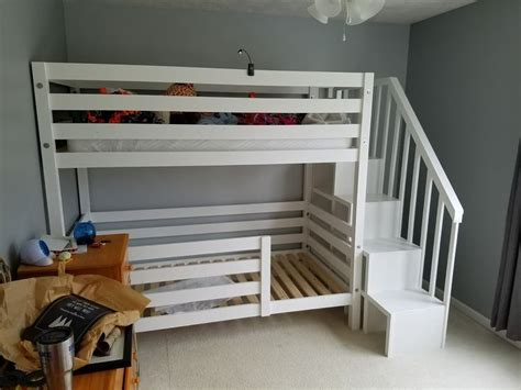 on bunk beds with stairs best 25 white beds ideas on white king