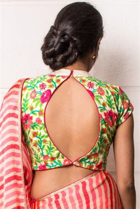 35  Awesome Blouse Back Neck Designs in Trend   Styles At Life