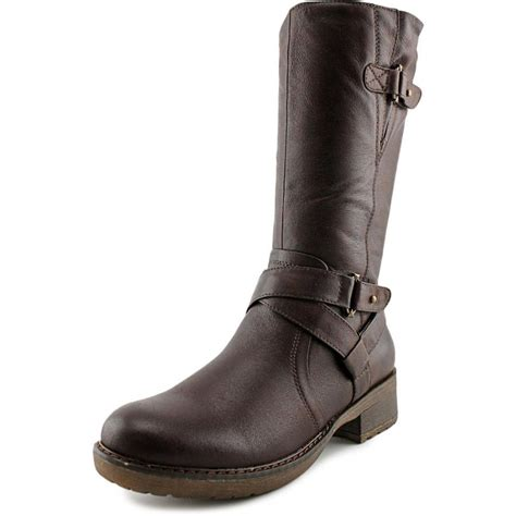 Faux Leather Mid Calf Boots baretraps harly faux leather brown mid calf boot boots