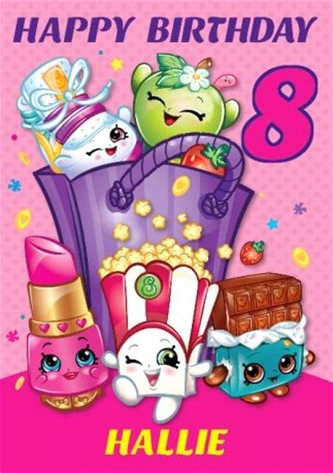 printable birthday cards shopkins shopkins birthday card special daughter 8th birthday