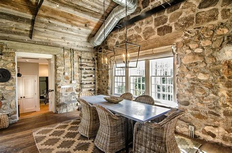 Italian Dining Room Chairs by 15 Gorgeous Dining Rooms With Stone Walls