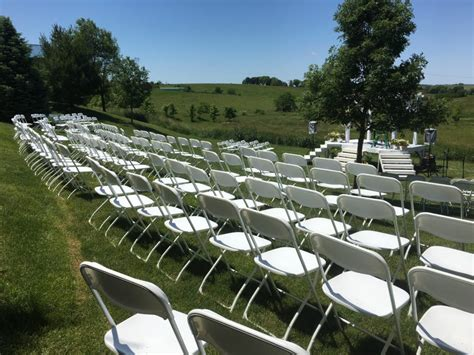 outdoor wedding venues in iowa outdoor wedding with chairs tents at highpoint city church