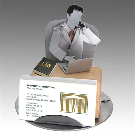 Lawyer Desk Accessories Attorney Business Card Holder Winecaddys