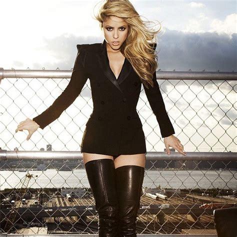 Maxi Syakira jacket shakira blazer dress black blazer thigh