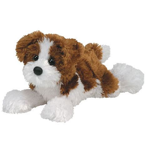 beanie baby puppy ty beanie baby rowdy the brown white version 7 5 inch bbtoystore