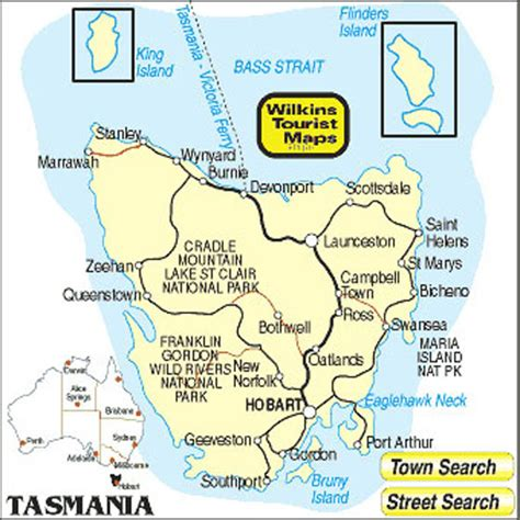 printable road map of tasmania stadtplan von tasmania detaillierte gedruckte karten von