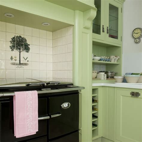 Green Country Kitchen Green Country Kitchen With Range Housetohome Co Uk