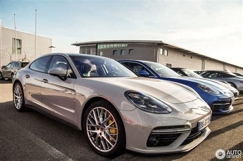 porsche 2017 white 2017 porsche panamera turbo panamera 4s duo spotted in