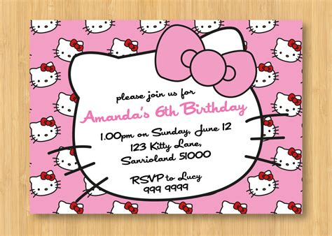 hello kitty printable invitation template hello kitty birthday invitations printable free