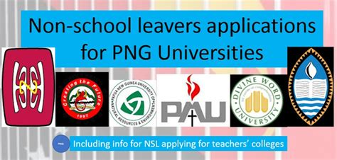 2019 Application Forms Upng Uog Unre Pau Dwu And Unitech