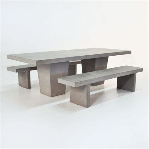 concrete tables and benches this raw concrete table set comes complete with 2 concrete