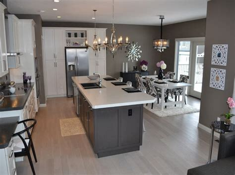 Kitchen Island With Barstools by 20 Astounding Grey Kitchen Designs Home Design Lover