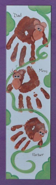new year monkey handprint prints and foot prints on footprint
