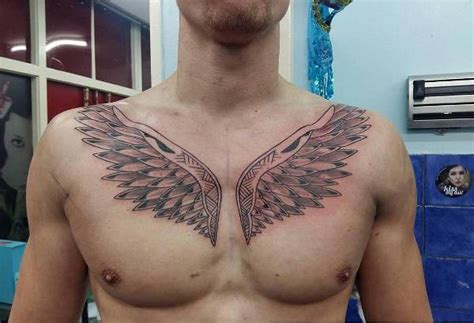 wing tattoo under breast wing tattoos on chest designs ideas and meaning tattoos