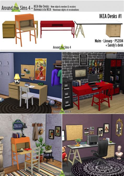 ikea like furniture ikea like desks by sandy at around the sims 4 187 sims 4 updates