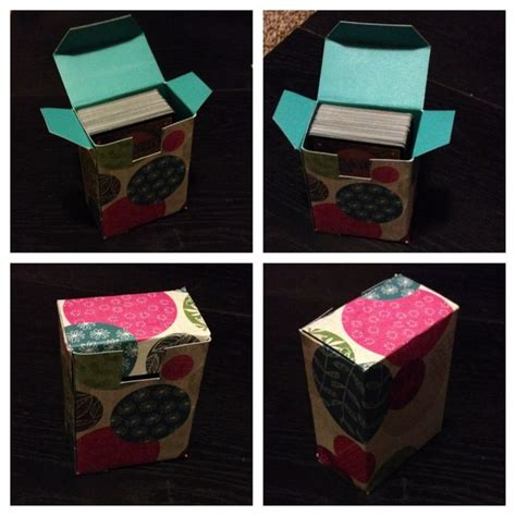 how to make a card deck box deck box for cards my diy projects