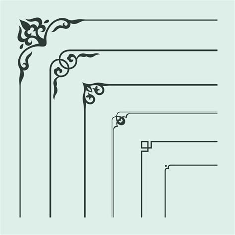 corner pattern vector cdr corner ornament chinese styles vector 14 vector ornament