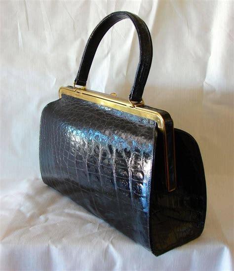Gucci Speedy Vintage Mirror Quality Tas Bag Wanita vintage black crocodile handbag purse lesco lona