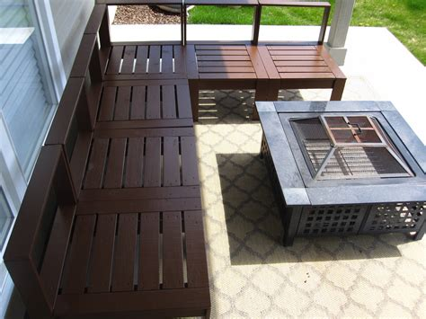 Outdoor Sectional Diy by White Outdoor Sectional Diy Projects