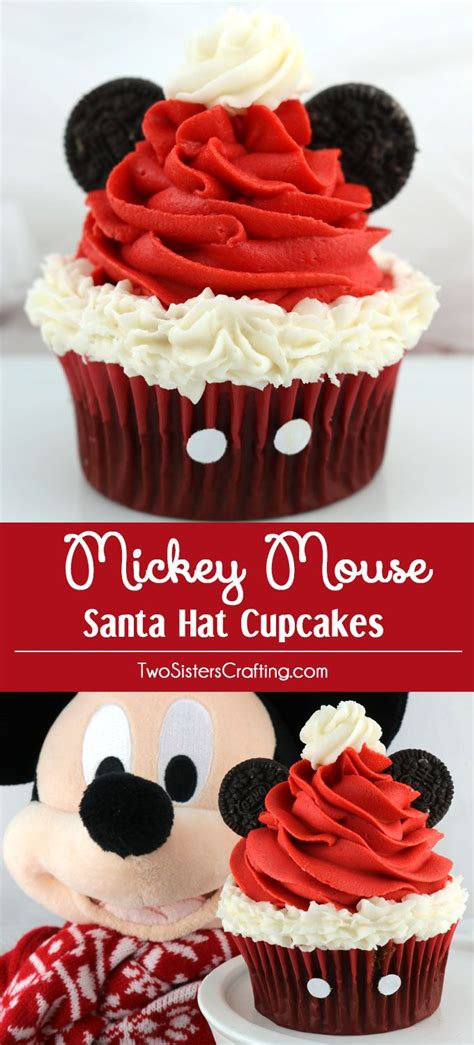 mickey mouse santa hat with lights mickey mouse santa hat cupcakes disney theme santa hat