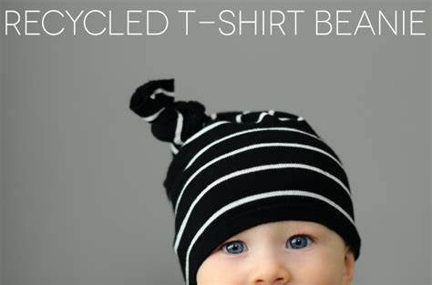 3 In Beanie Hat Tshirt recyled t shirt beanie small fry