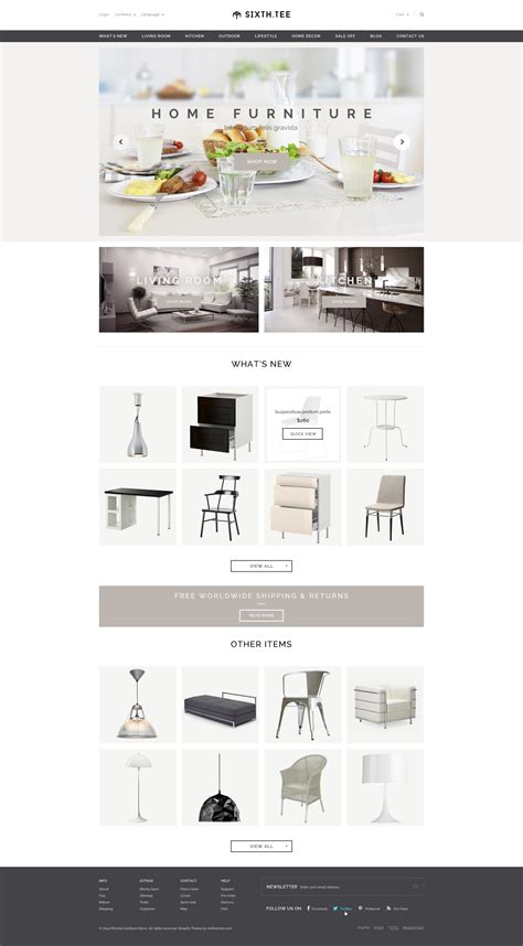 shopify themes furniture minimal multipurpose shopify theme sixthtee by tvlgiao