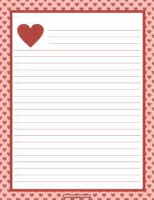 Writing Paper Online Free Printable Valentine Stationery