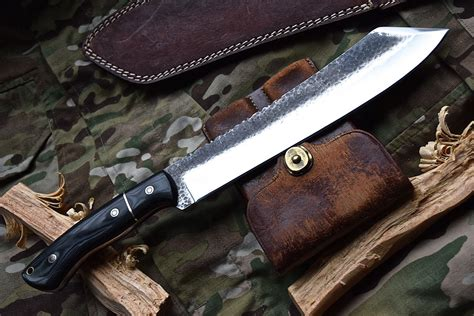Handmade Machete - knife store cfk custom handmade hammered 1095 high carbon
