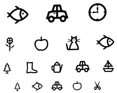 printable lea symbols eye chart eye charts for toddlers free printable eye chart image