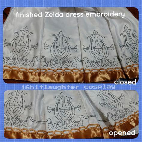 sewing pattern zelda wip twilight princess zelda dress glyphs by