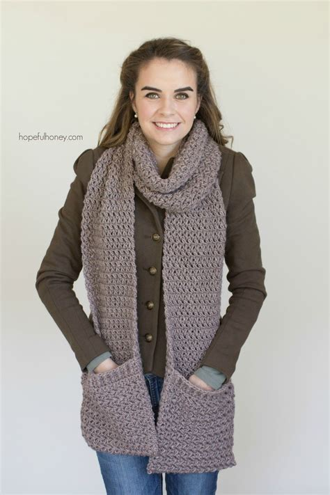 knitting pattern for scarf with pockets mulberry shadow pocket scarf free crochet pattern free