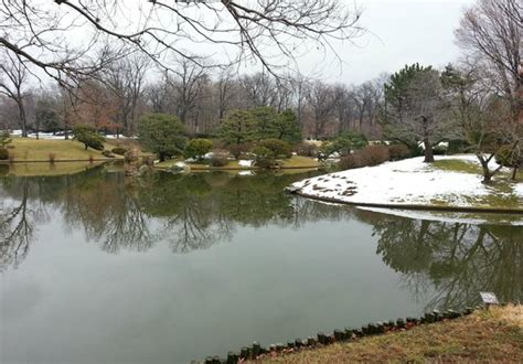 japanese garden in winter japanese garden in winter picture of missouri botanical