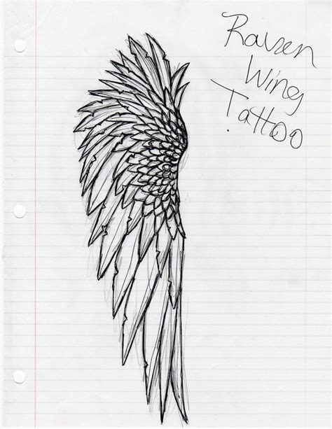 raven wing tattoo wing tat pandemonium by ravenwolf89 on deviantart