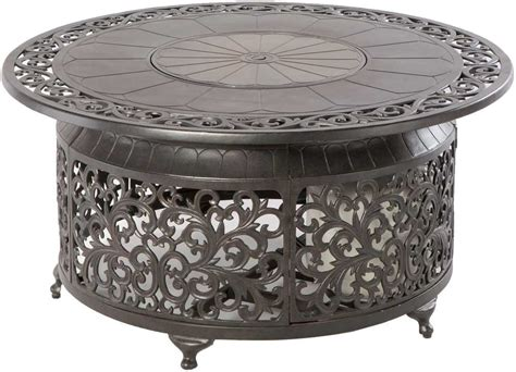 Alfresco Home Bellagio Cast Aluminum 48 Round Propane Gas Gas Firepit Tables