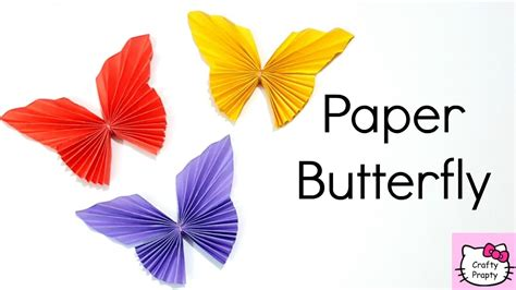 How To Make Paper Butterfly Decorations - how to make paper butterfly easy origami butterfly diy