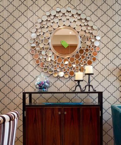 lovely hallway wallpaper mirror wall decor dining