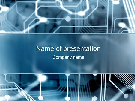 Ppt Templates For Electronics Presentation | electronic circuit powerpoint template backgrounds id
