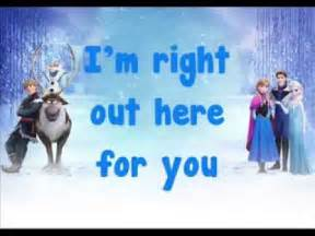 Do you want to build a snowman soundtrack lyrics youtube
