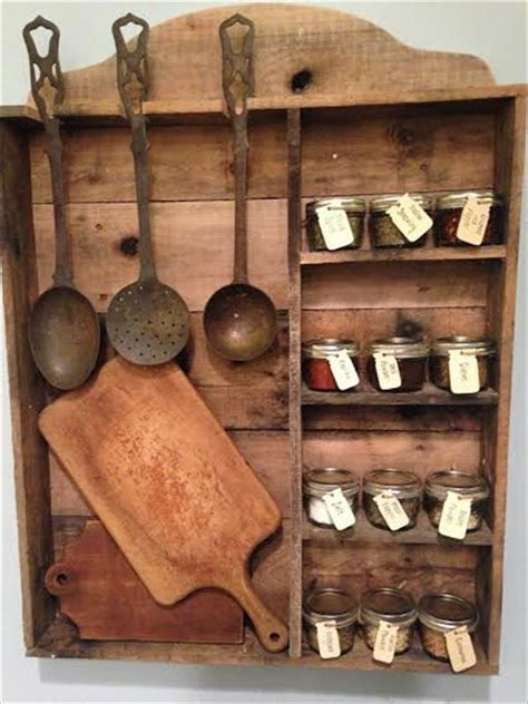 Kitchen Seasoning Rack Vintage Inspired Pallet Kitchen Spice Rack 101 Pallets