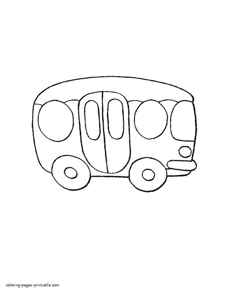 transportation coloring pages for toddlers bus
