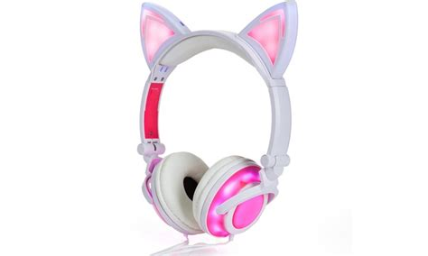 jamsonic dj style light up cat or panda headphones up to 89 off on jamsonic light up cat headphones