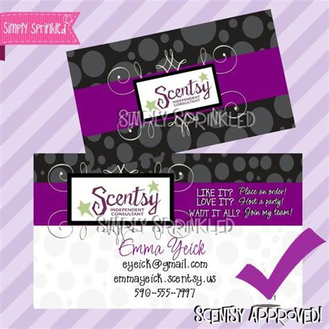 Scentsy Business Cards Vistaprint