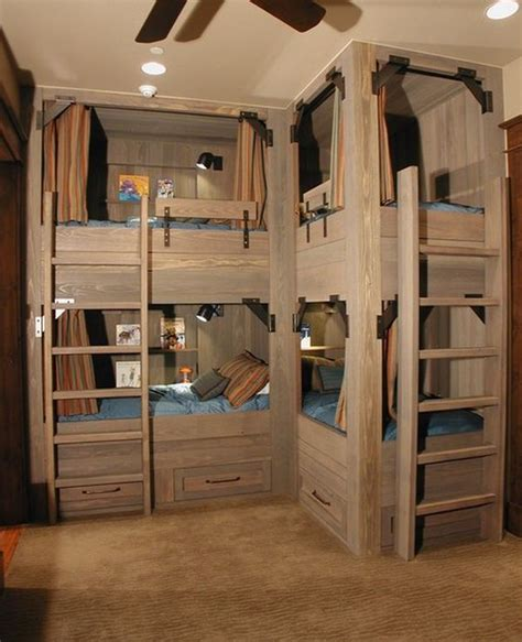 Four Bed Bunk Bed Bunk Beds For Four Wonderful Space Saving Additions To