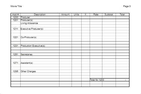 17 Free Film Budget Templates Excel Word Pdf Exles Documentary Budget Template Excel